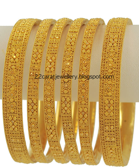 71d5fe4c0 Check out beautiful 22 carat gold set of bangles from meena jewellery.