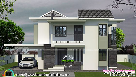 2210 square feet 4 bedroom house architecture plan