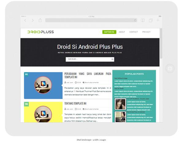Droid Plus blogger template