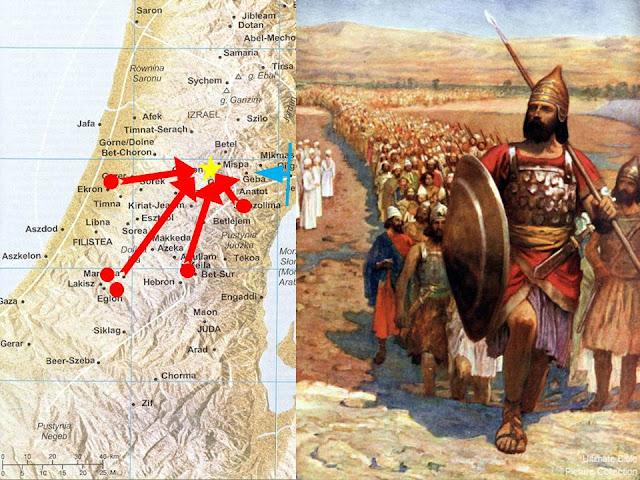 mapa Judejskih osvajanja