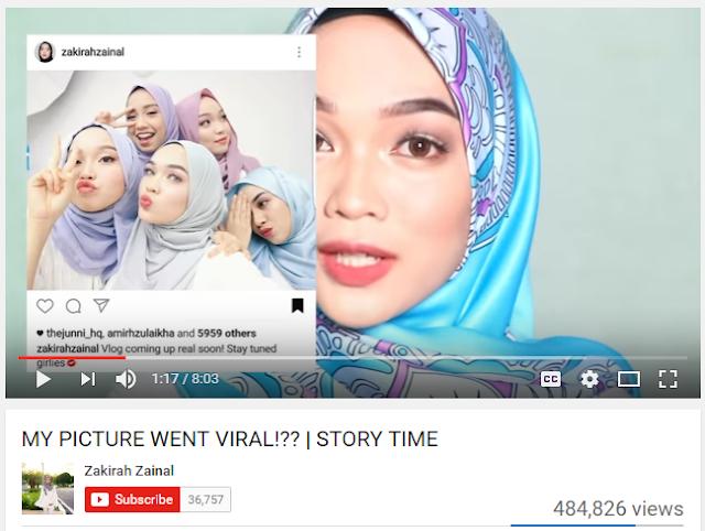 Zakirah Zainal - Beauty Youtuber