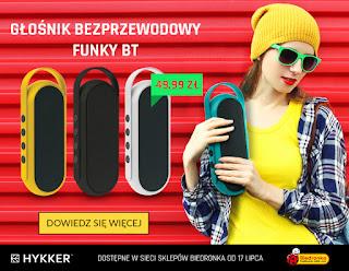 Mobilny bezprzewodowy głośnik Hykker Funky BT z Biedronki