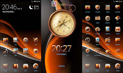Amber Gold Theme for EMUI 5.0/5.1 Huawei theme
