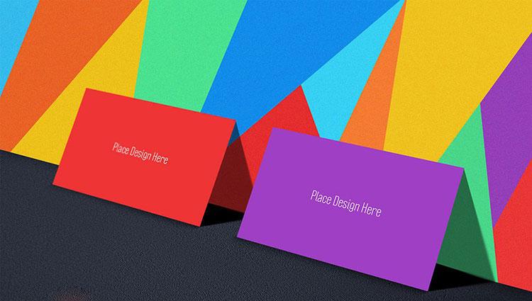 Free Tutti Frutti Business Card Mockup PSD