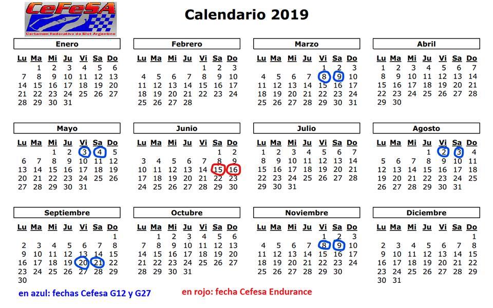 Calendario Diciembre 2018 Argentina.Autoshowslot Cefesa Certamen Federal De Slot Argentino