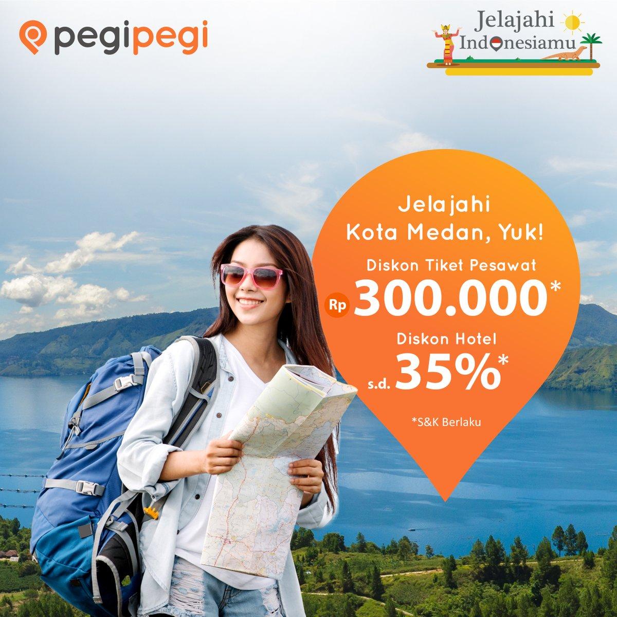 PegiPegi - Promo Tiket Ke Medan Diskon s.d 300 Ribu & Diskon Hotel s.d 35%
