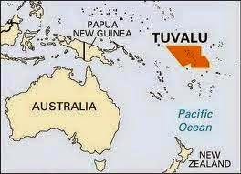 Peta Negara Tuvalu