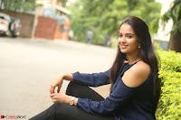 Poojita Super Cute Smile in Blue Top black Trousers at Darsakudu press meet ~ Celebrities Galleries 075.JPG