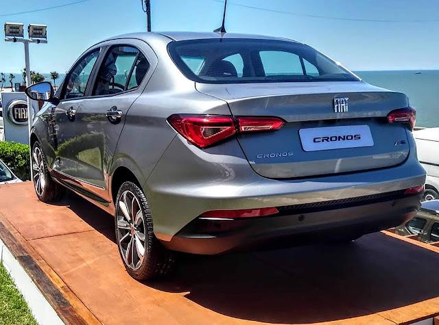 Fiat Cronos: preços, versões e itens de série - Argentina