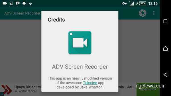 tampilan adv screen recorder