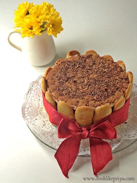 Cook like Priya Tiramisu Birthday Cake for Husband Tiramisu layer