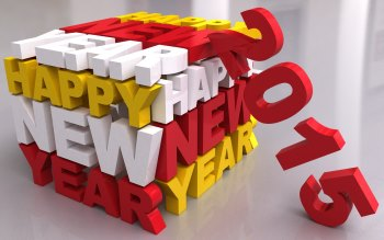 Wallpaper: Happy New Year 2015 3D