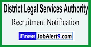 DLSA District Legal Services Authority Recruitment Notification 2017  Last Date 30-05-2017