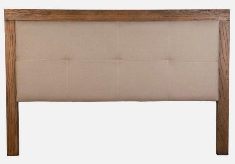 Cabecero matrimonio, cabecero madera roble