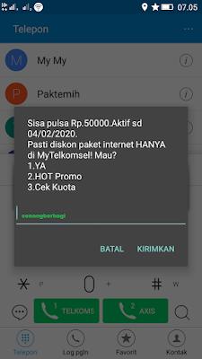 Bukti Pembayaran Pulsa Gratis Telkomsel dari Aplikasi Akulaku Android