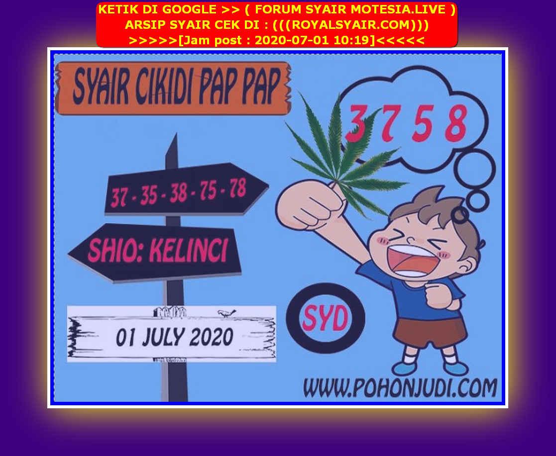Kode syair Sydney Rabu 1 Juli 2020 191