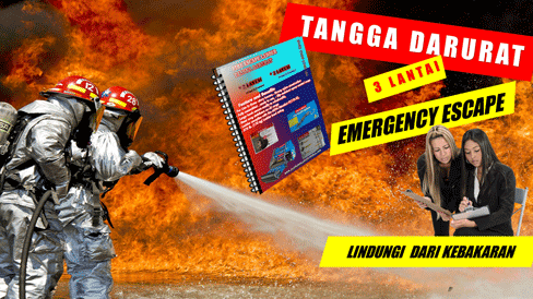 Jual Tangga Darurat 3 Lantai Emergency escape