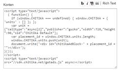 Chitika - Configure Ad Widget