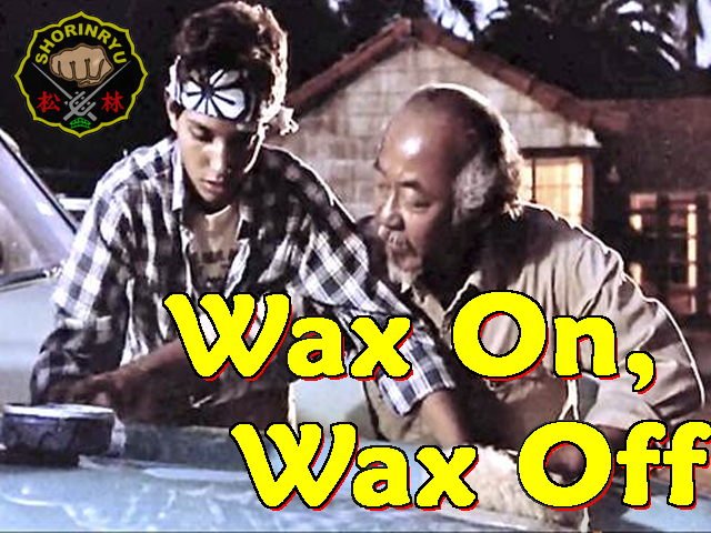 Image result for wax on wax off