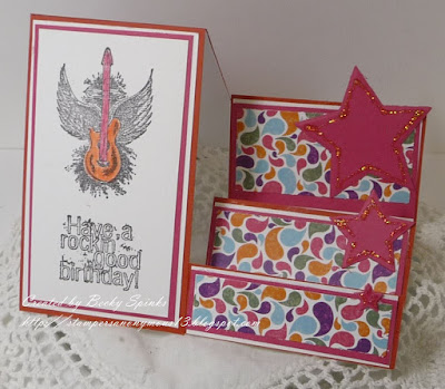 ODBD Rock Star, ODBD Custom Sparkling Stars Dies, ODBD Beautiful Boho Paper Collection, Card Designer Becky Spinks