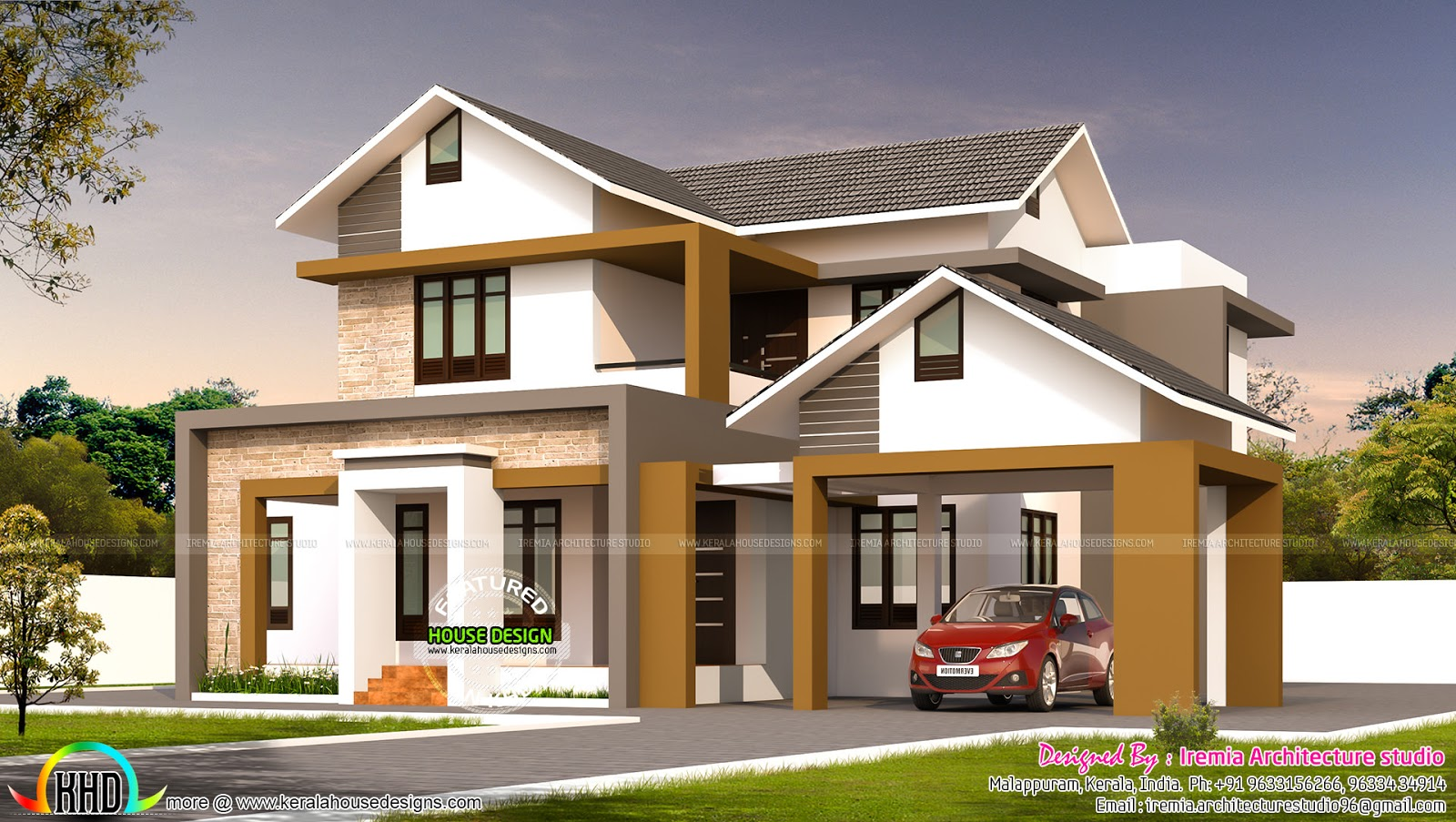 modern house by iremia architecture studio - Home Design Kerala