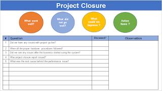 Project Closure Agenda