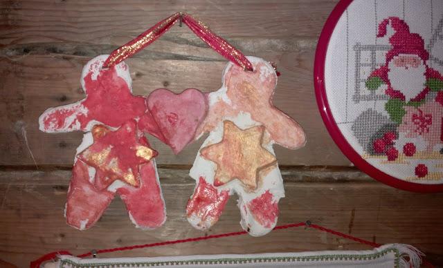 joululahjaidea tonttukoriste suolataikinasta