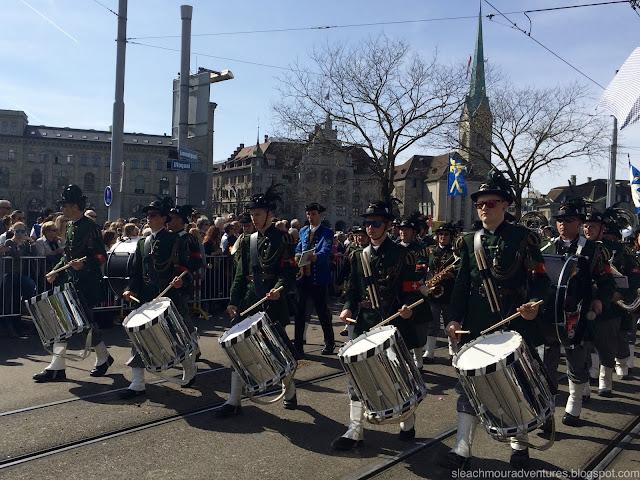 Sechseläuten, or in proper Züridüütsch (the Swiss-German dialect in Zurich), Sächsilüüte, is Zurich's spring festival.
