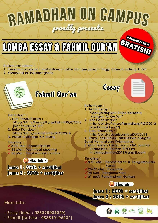 essay bertema mahasiswa untuk agama
