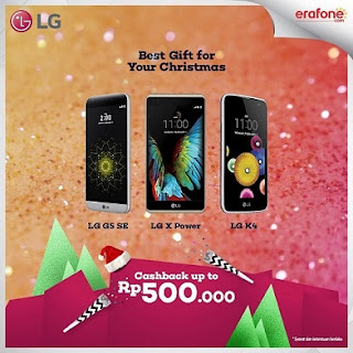 Promo Best Gift for Your Christmas LG Cashback Hingga 500 Ribu