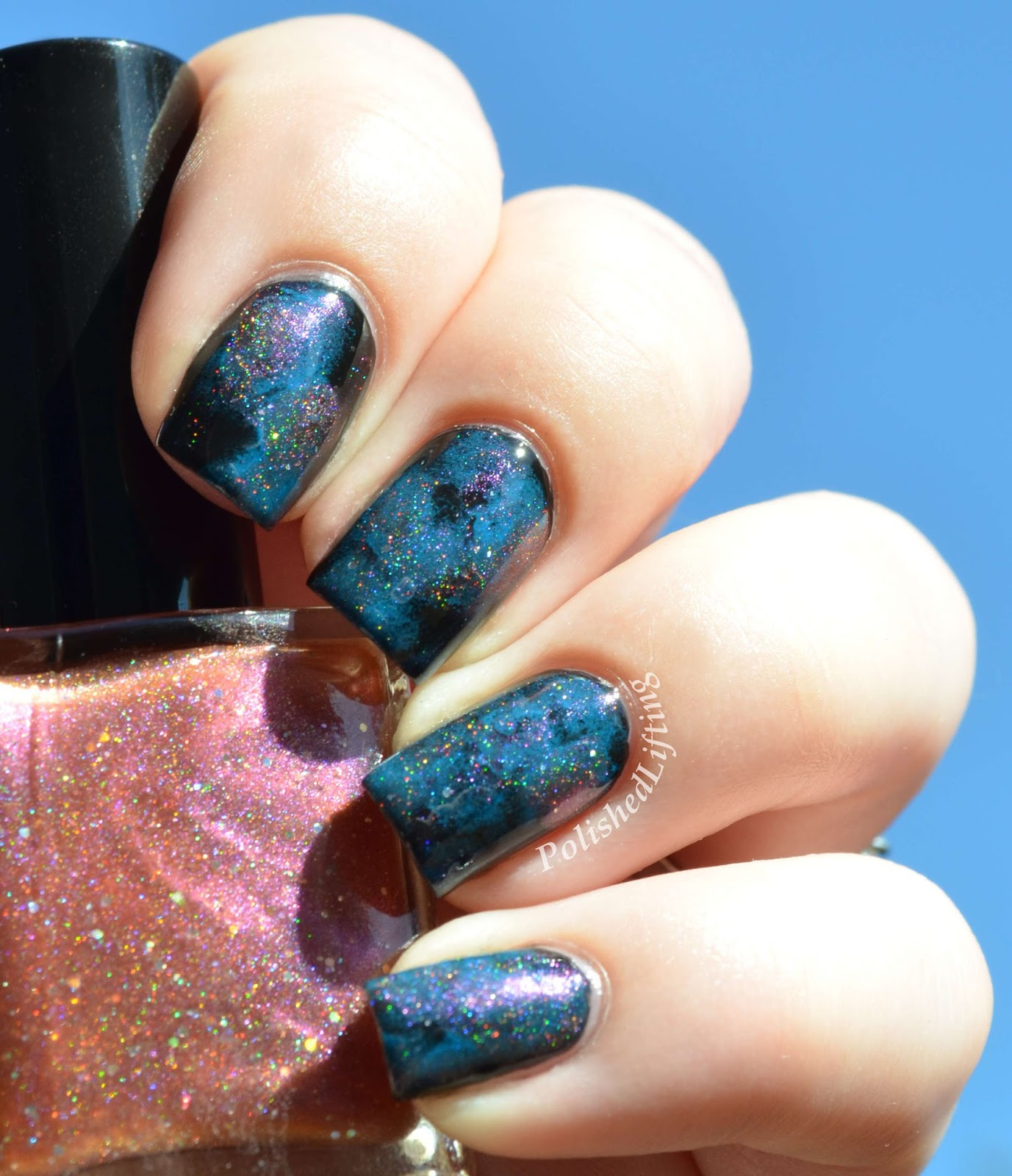 Polished Lifting: Twin Galaxy Mani with Shelby Lou Nails