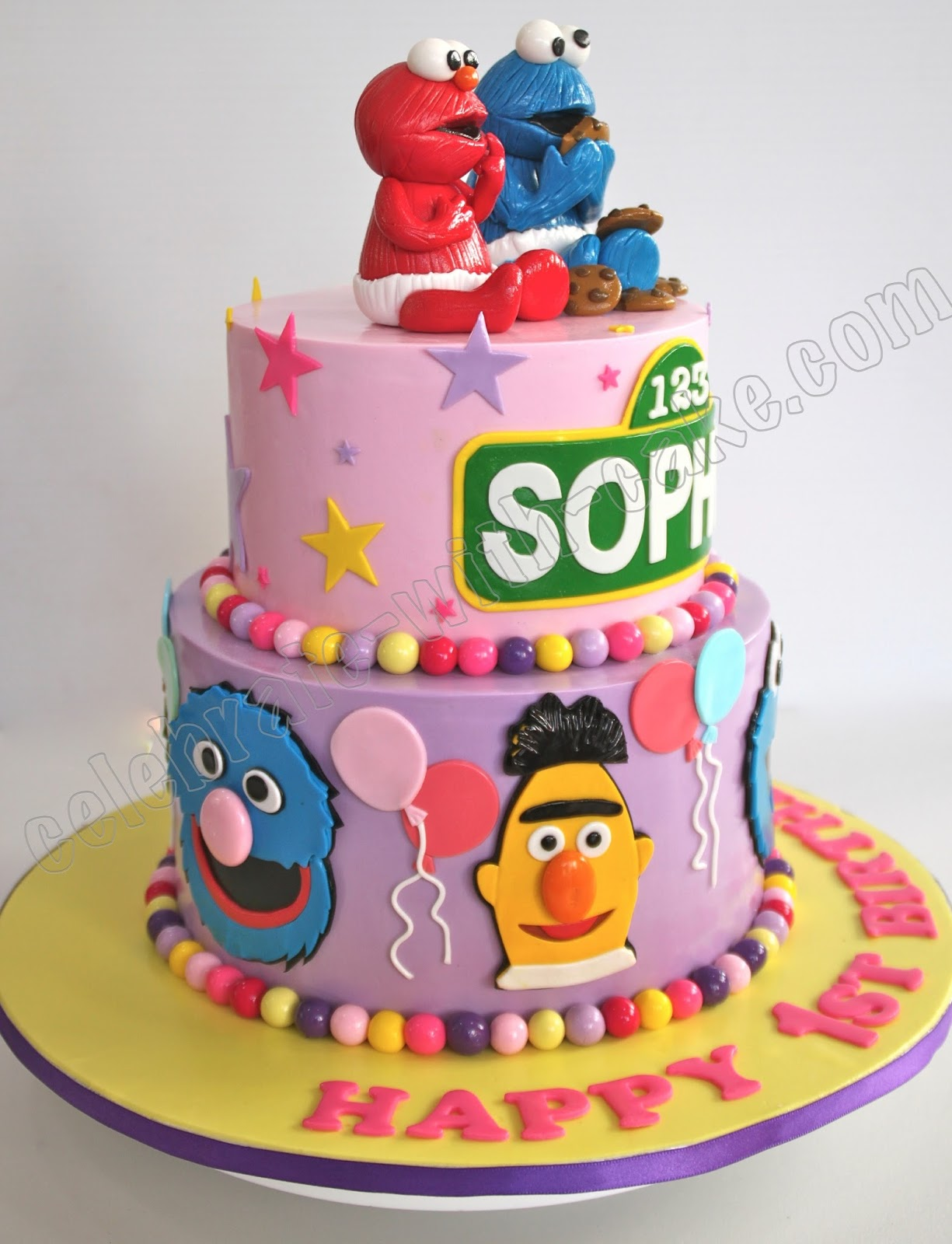 Sesame Street 2 Tier Cake