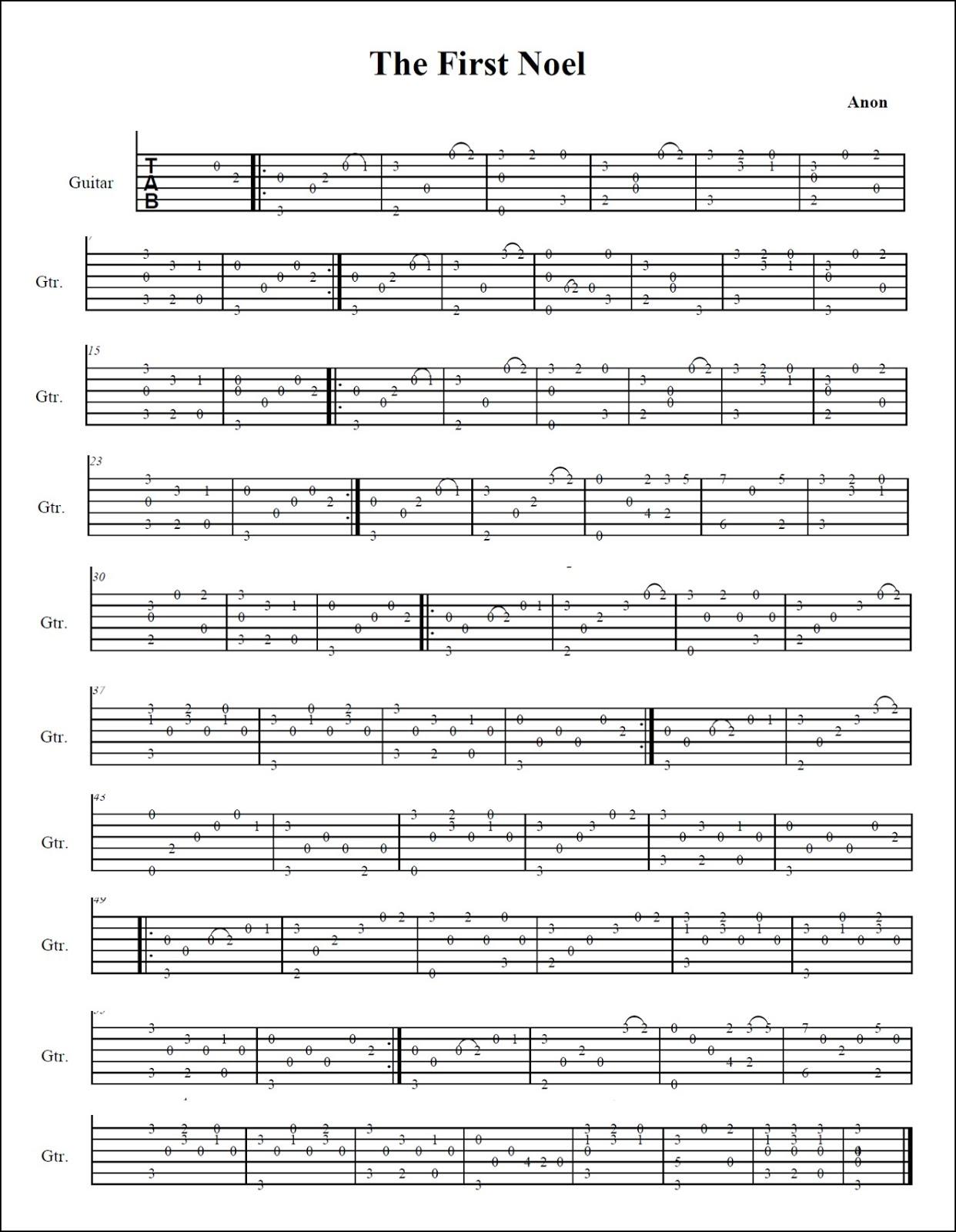 Classical Guitar Tabs : mattwins free christmas tabs for classical guitar ~ Russianpoet.info Haus und Dekorationen