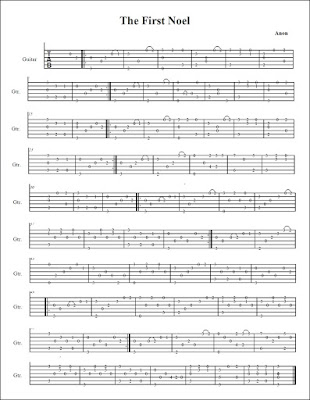 The First Noel Classical Guitar Christmas Tabs