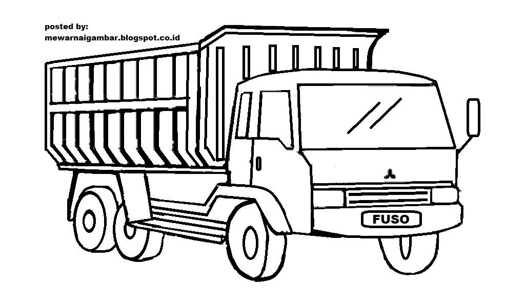 mewarnai gambar mewarnai gambar sketsa transportasi mobil