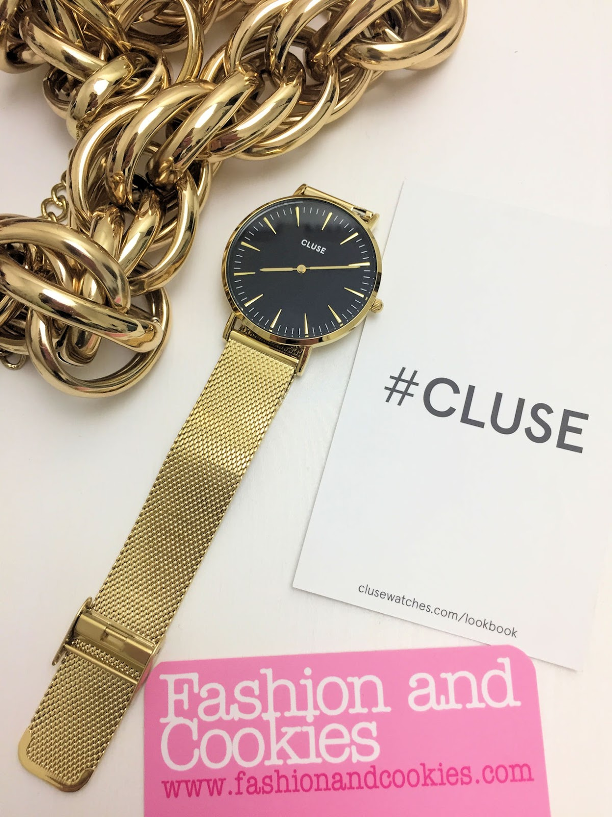 Cluse La Boheme golden watch on Orologio.it on Fashion and Cookies fashion blog, fashion blogger