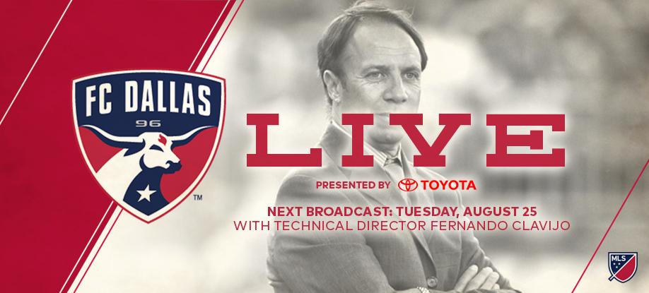 FC Dallas, FC Dallas Live, FC Dallas Live with Gina Miller, livestreaming media, Fernando Clavijo