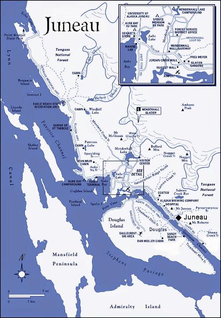 Juneau map - Alaska