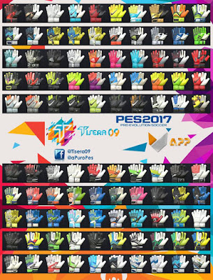 PES 2017 New GlovePack v5 by Tisera09 ( 100 Gloves )