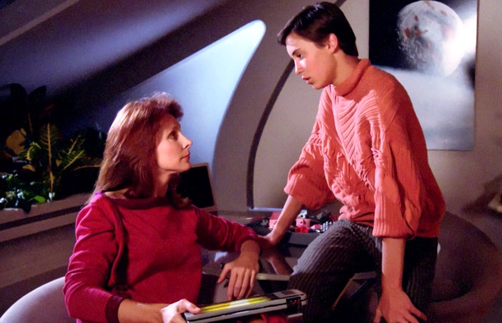 Beverly e Wesley Crusher