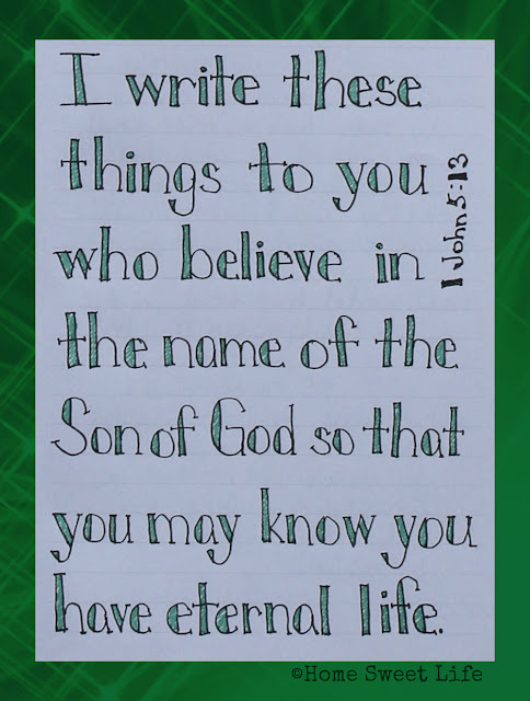 Scripture Writing, 1 John 5:13