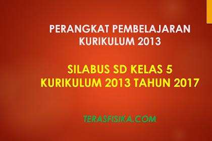 Download Silabus SD Kelas 5 Kurikulum 2013 Revisi 2017