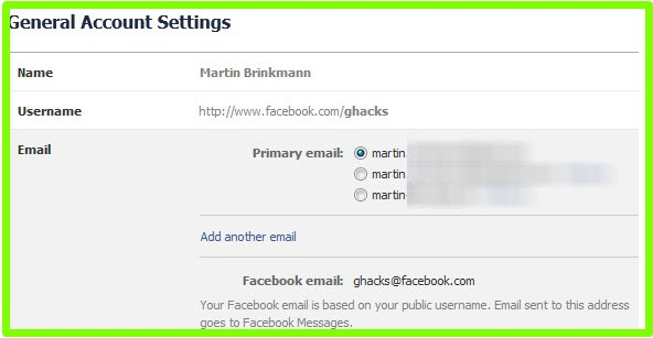 how to change facebook email login