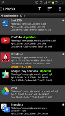 Download Link2SD Application Manager For Android