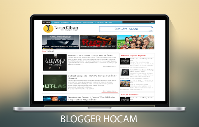 Sade Blogger Teması ( Kullanıcı Odaklı )