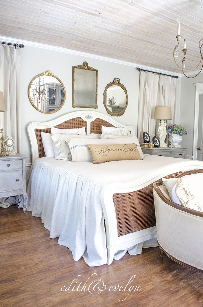 Vintage French chateau style bedroom. so pretty!