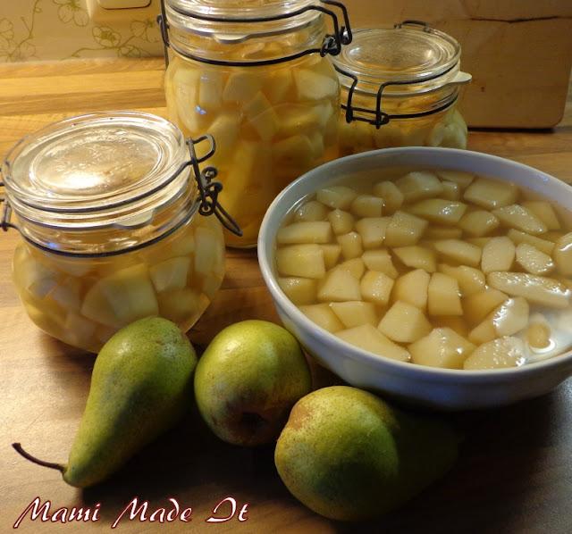 Ich war fleißig und habe Birnen eingekocht und Kompott gemacht.