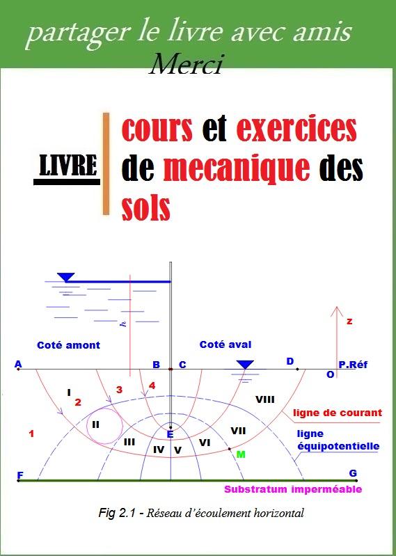 Cours et exercices de mecanique des sols pdf book for Cours construction batiment pdf