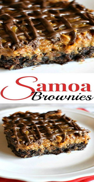 Samoa Brownies Recipe
