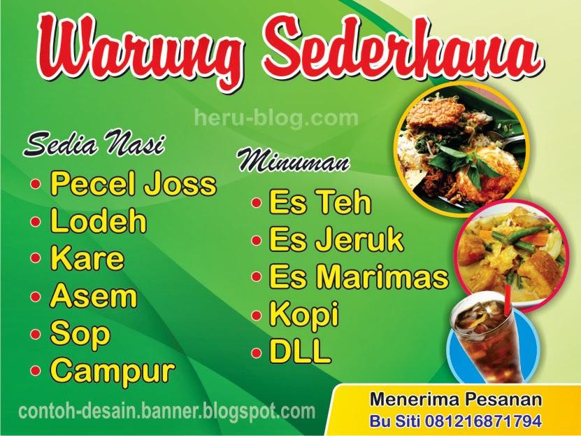 Contoh Desain Banner Warung Sederhana Bu Siti